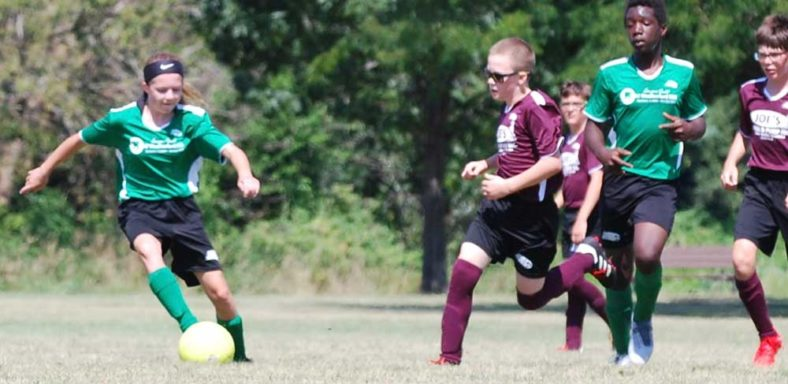 CWSA U12 soccer players